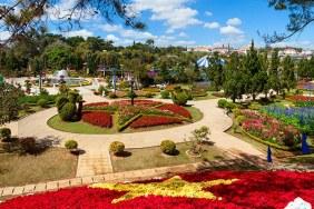 Jardins de fleurs à Dalat
