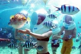 Sortie aquatique à 7 mètres sous l'eau
