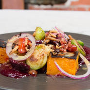 The Winery vegan dish