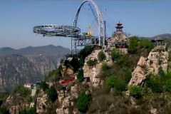 China's glass platform over Shilin Gorge