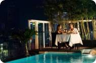 Valentine's Night dinner buffet at the roof garden restaurant